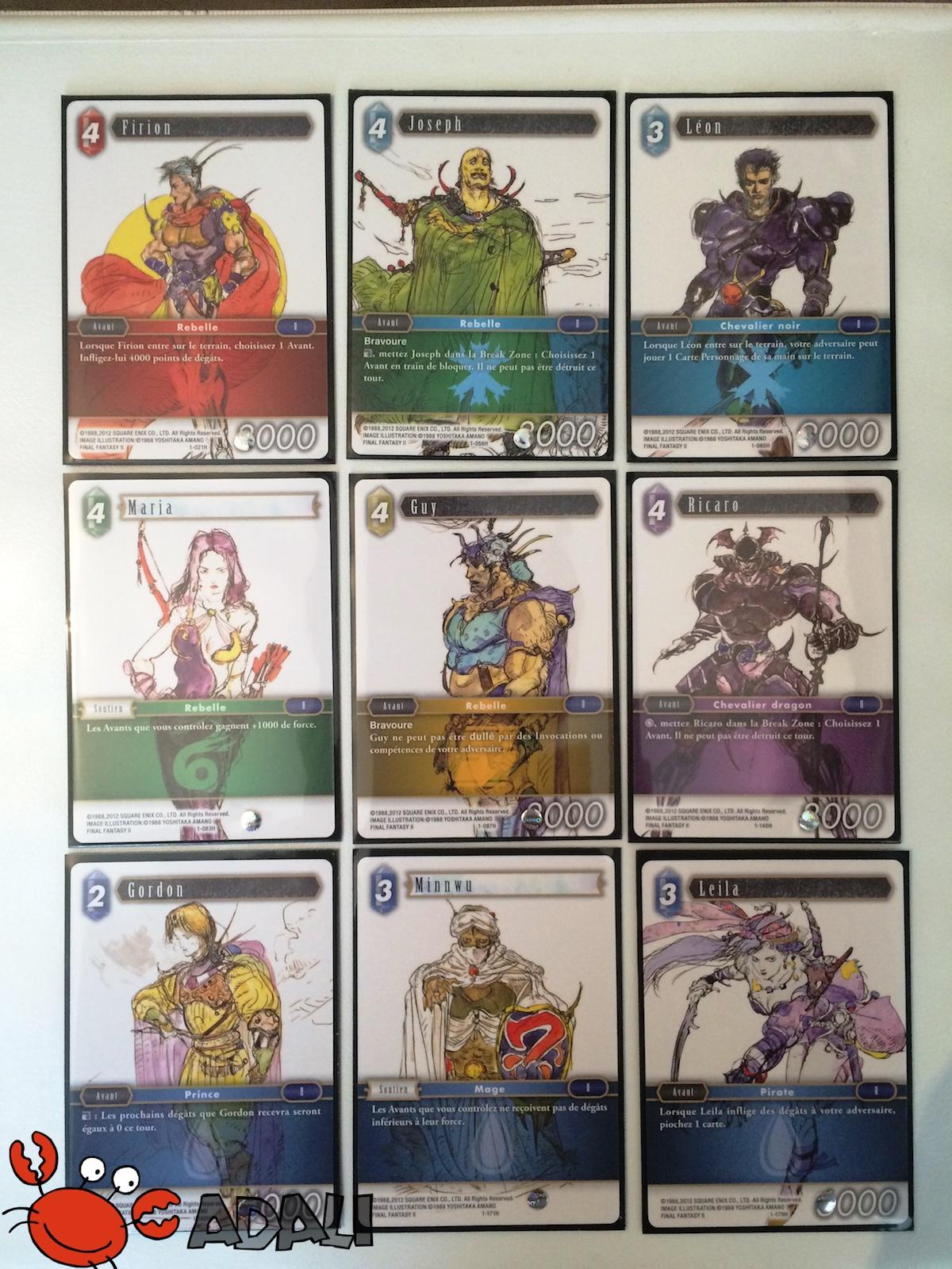 Cartes illustrées par Yoshitaka Amano