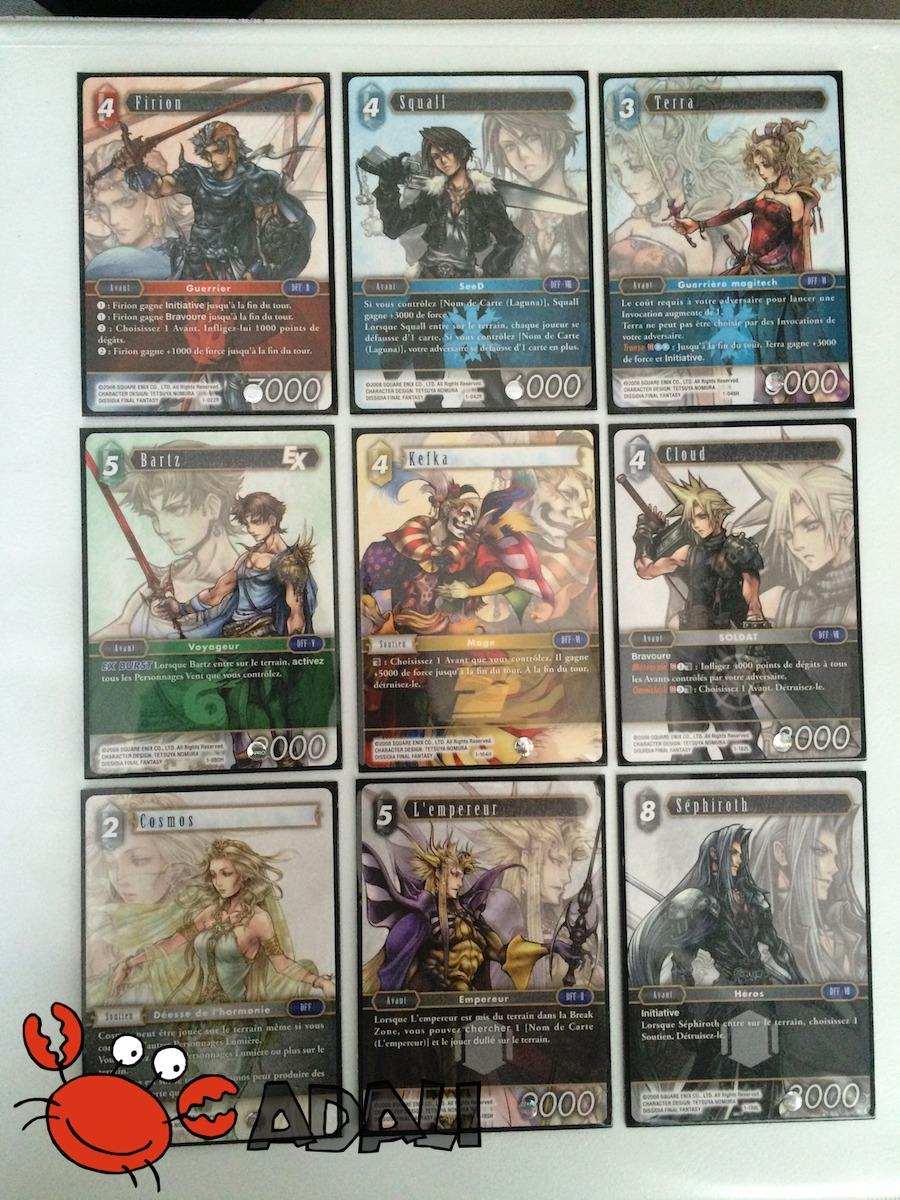 Cartes illustrées par Tetsuya Nomura