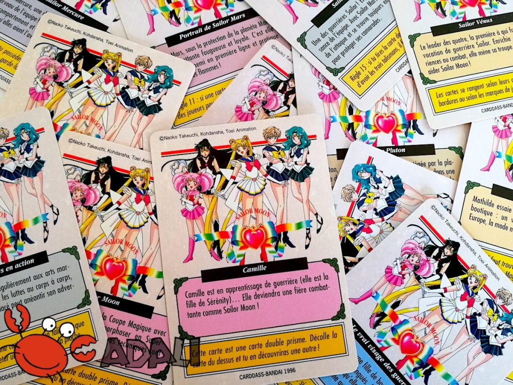 Le dos des Carddass françaises Sailor Moon